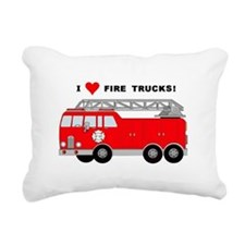 I Heart Fire Trucks! Rectangular Canvas Pillow