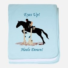 Eyes Up! Heels Down! Horse baby blanket