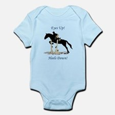 Eyes Up! Heels Down! Horse Infant Bodysuit
