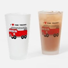 I Heart Fire Trucks! Drinking Glass