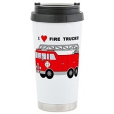 I Heart Fire Trucks! Travel Mug