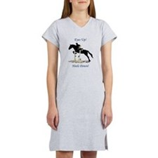 Eyes Up! Heels Down! Horse Women's Nightshirt