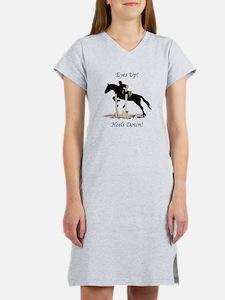 Eyes Up! Heels Down! Horse Women's Nightshirt
