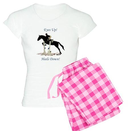 Eyes Up! Heels Down! Horse Women's Light Pajamas