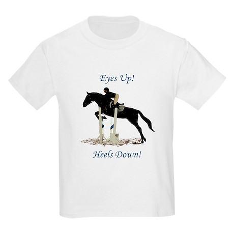 Eyes Up! Heels Down! Horse Kids Light T-Shirt