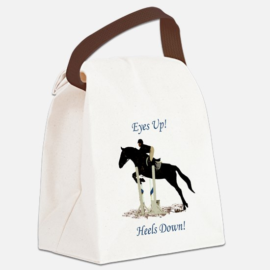 Eyes Up! Heels Down! Horse Canvas Lunch Bag