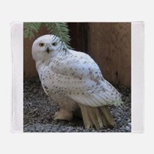 Cute Snowy owls Throw Blanket