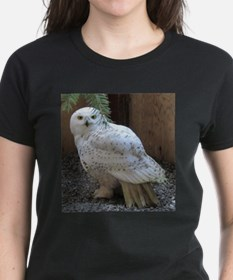 Unique International bird rescue white logo Tee