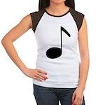 Quaver Symbol Music Note Women's Cap Sleeve T-Shir