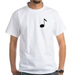Quaver Symbol Music Note White T-Shirt