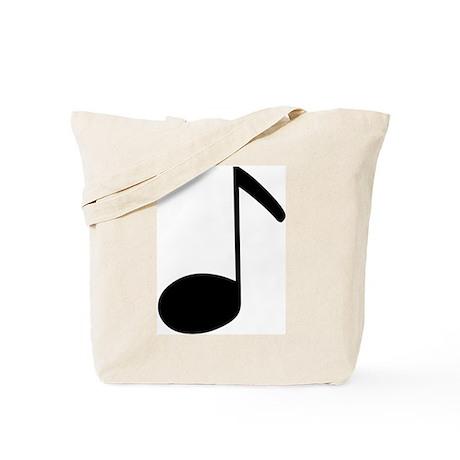 Quaver Symbol Music Note Tote Bag
