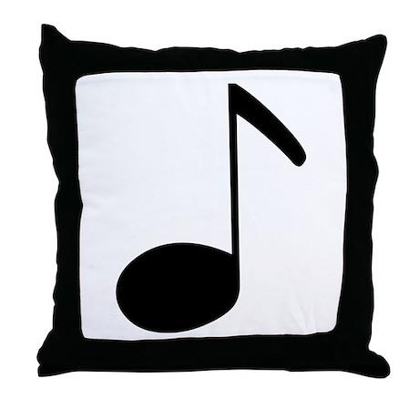 Quaver Symbol Music Note Throw Pillow