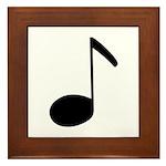 Quaver Symbol Music Note Framed Tile