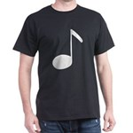 Quaver Symbol Music Note Black T-Shirt