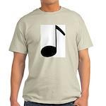 Quaver Symbol Music Note Ash Grey T-Shirt