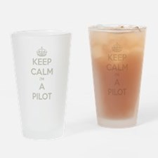 Keep Calm Pilot Drinking Glass