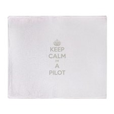 Keep Calm Pilot Throw Blanket
