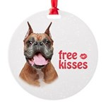 Free Kisses Round Ornament