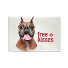 Free Kisses Rectangle Magnet