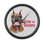 Free Kisses Large Wall Clock