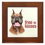 Free Kisses Framed Tile