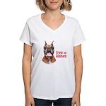 Free Kisses Women's V-Neck T-Shirt