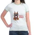 Free Kisses Jr. Ringer T-Shirt