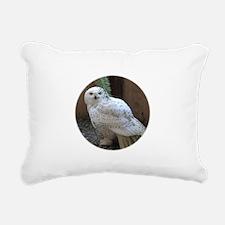 Cute Snowy owl Rectangular Canvas Pillow