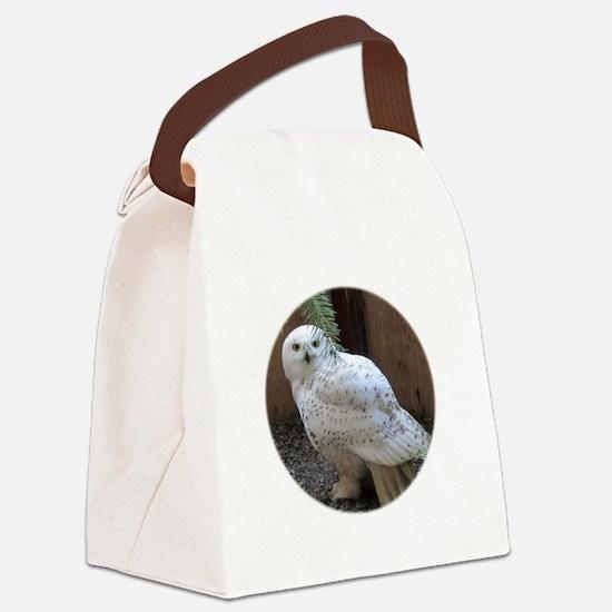 Cool Snowy owl Canvas Lunch Bag