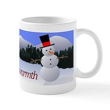 Snowman Love Peace Joy Warmth Mug