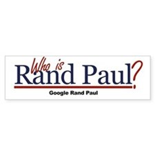 Who is Rand Paul? Bumper Bumper Sticker