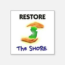 Hurricane Sandy Restore Jersey T-Shirt Square Stic
