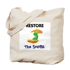 Hurricane Sandy Restore Jersey T-Shirt Tote Bag
