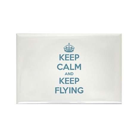 Keep Calm Flying Rectangle Magnet