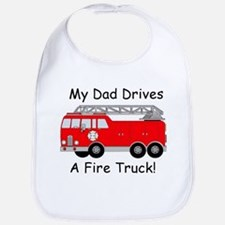 My Dad Drives A Fire Truck Bib
