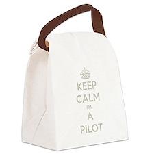 Keep Calm Im a Pilot Canvas Lunch Bag