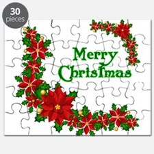 Merry Christmas Poinsettias Puzzle