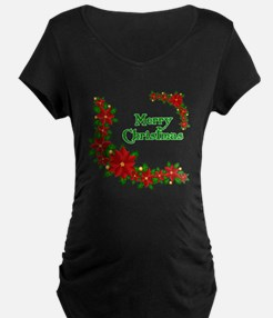 Merry Christmas Poinsettias T-Shirt