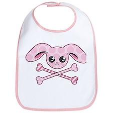 Kawaii Pink Bunny Skull Bib