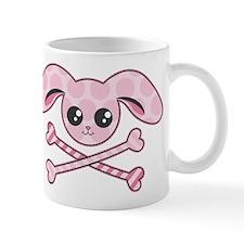Kawaii Pink Bunny Skull Mug