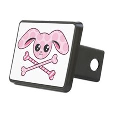 Kawaii Pink Bunny Skull Hitch Cover
