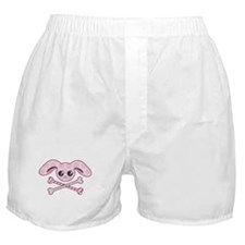 Pink Bunny Skull Boxer Shorts