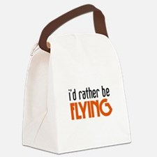 ratherbeflying.png Canvas Lunch Bag
