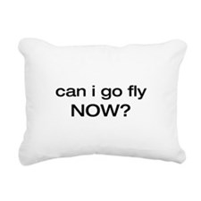 can i go fly now.png Rectangular Canvas Pillow