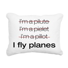 I fly planes.png Rectangular Canvas Pillow