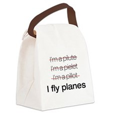 I fly planes.png Canvas Lunch Bag
