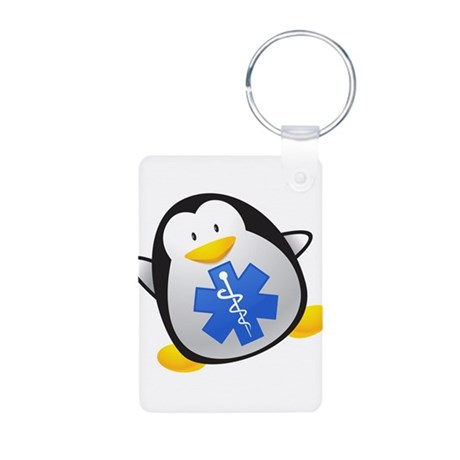 Penguin EMT Aluminum Photo Keychain