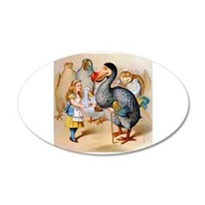 Alice and the Dodo Bird Wall Decal