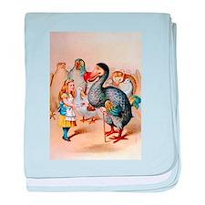 Alice and the Dodo Bird baby blanket