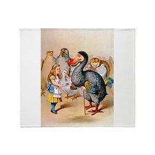Alice and the Dodo Bird Throw Blanket